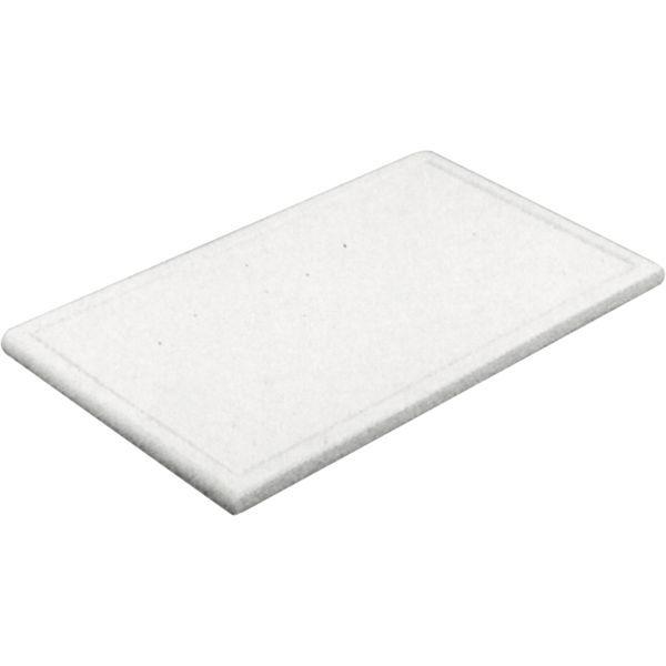 Schneidbrett mit Rille, mit Füßchen, GN 1_2, Höhe 20 mm, weiß