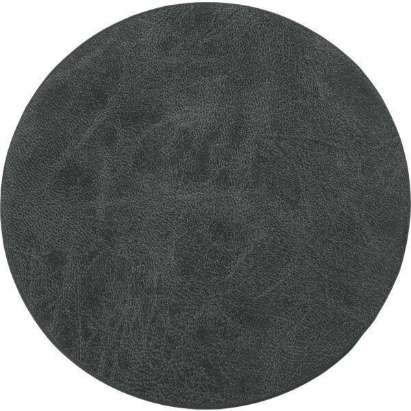 Untersetzer rund, 4-tlg., schwarz