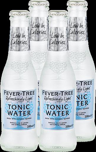4er Fever-Tree Refreshingly Light Indian Tonic Water
