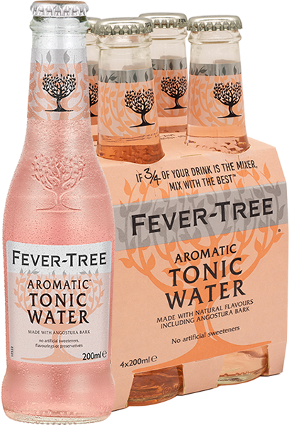 4er Fever-Tree Aromatic Tonic Water