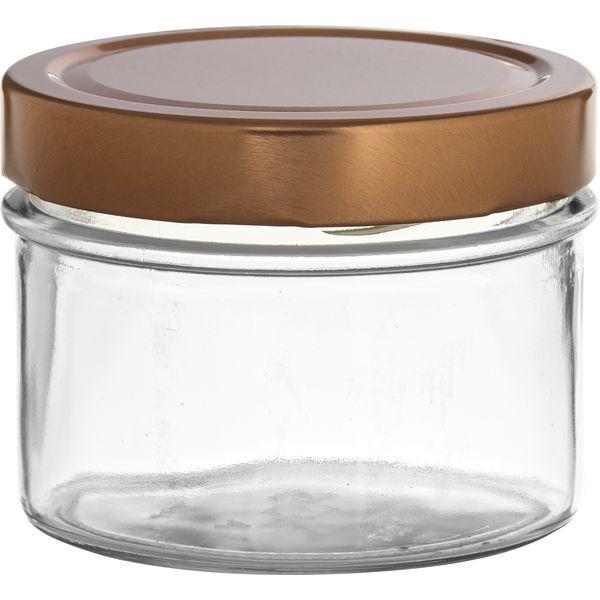Vorratsglas 6-tlg., Kupfer-Look, Inhalt: 0,262 Liter