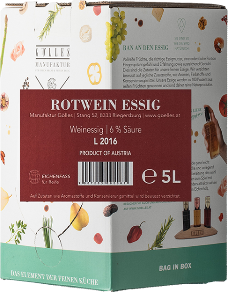 Gölles Rotwein Essig Bag in Box 5L