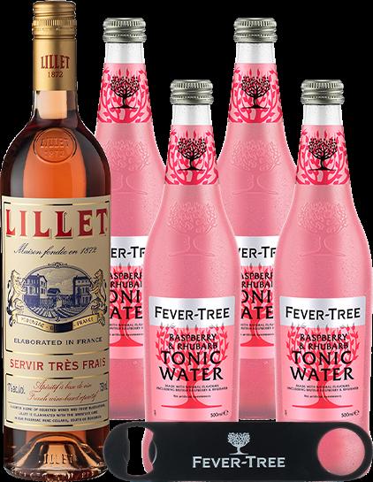 Rosé & Fever-Tree Raspberry & Rhubarb Tonic Water 500ml