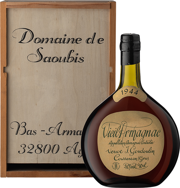 """Vieil Armagnac """"Vve- Goudoulin"""" 1944"""