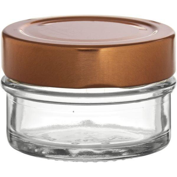 Vorratsglas 12-tlg., Kupfer-Look, Inhalt: 0,06 Liter