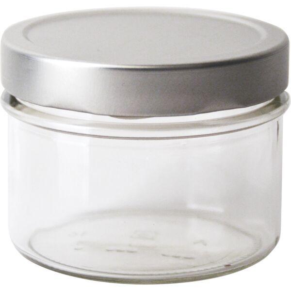 Vorratsglas 6-tlg., Silber-Look, Inhalt: 0,262 Liter