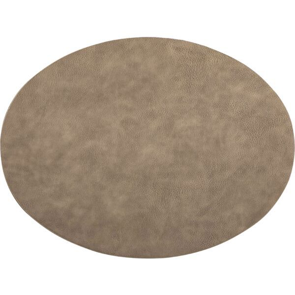 Tischset oval »Troja« taupe